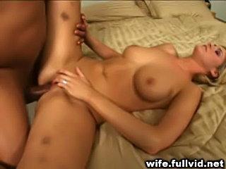 Blonde enjoys black cock  free