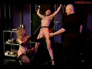 Slave girl getting her clit vacumed spanked with stick by ma free