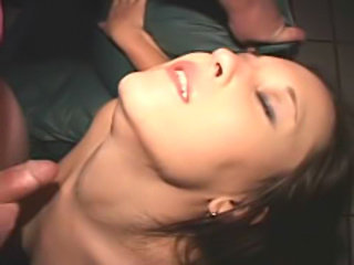 Teen whore fucked in a public theater