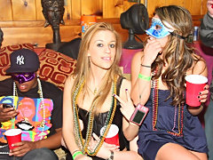 Boozed College sluts and beads