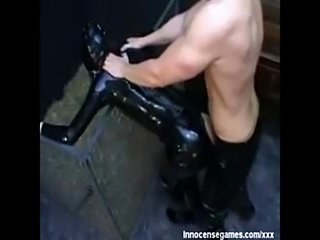 Latex catwoman fucks  free