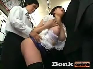 hot asian fucked in public train