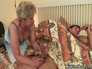 Cock hungry granny fucks her son in law  free