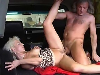 Blonde mature seduced mechanic to fuck her and cover her face with warm tasty...