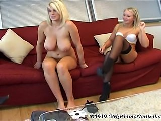 Demi (big tits), Emma & Tyler play Strip Coin Toss. The loser of each round...