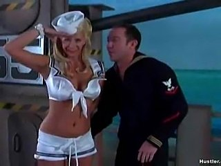 Sexy sailor outfit on this blonde slut