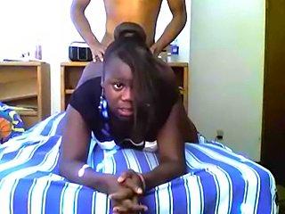 Real ebony whore webcam fucking