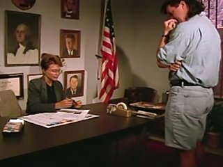 Classic underrated brunette gets it up the asshole in an office!