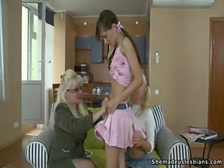 Mature woman seduces european teen girls  free