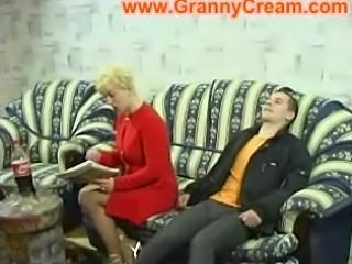 Blonde Mature Mother and Son