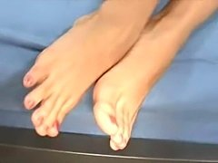 Watch hot Jenna use her pink toes to get a guy off!  Enjoy!  Plz Comment!