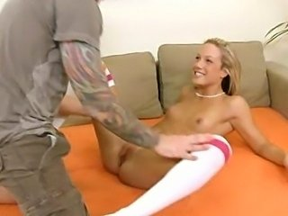 19 yr old Teen Takes Hard Cock