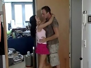 German porn star Leonie (aka Leonie Saint, Leonie Luder) fucks a friend of hers to make him tidy up her flat in the movie Bettgefluester.
