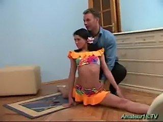 Flexible gymnast need big cock  free