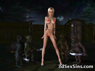 3D Trolls Fuck Hot Girls