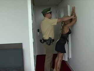 Sexy policeman fucking a hot teasing blonde bitch