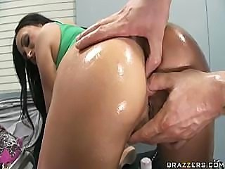Claudia Valentine Gets Fucked In Her Oiled Ass