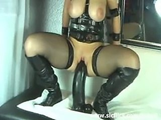Extreme monster dildo fucking bizarre amateur slut