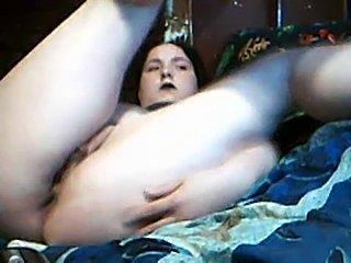 BBw Goth plays on cam