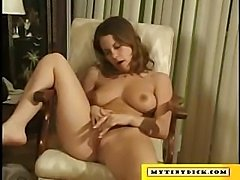 She blows this guys tiny cock and uses her super juicy boobs to make him cum