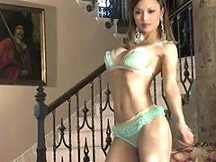 Francine Dee striptease