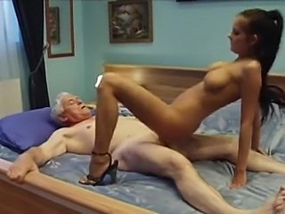 Old guy fucks with the horny, sexy and hot babe