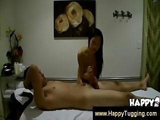 Kinky assian gives a cock massage