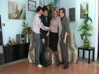 Italian Mature 3 Man Gang Bang