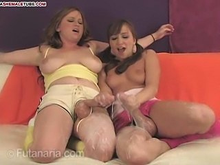 Dirty Futanari girls cum