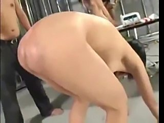 Poor Japanese babe gets her tight ass spanked