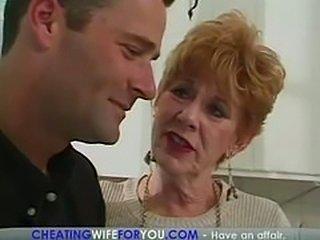 Sexy granny cheats again