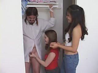 Handjob in closet