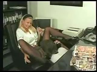 Slut secretary gets fisted by colleague at work.