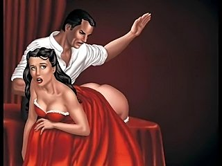 Strange fetish drawings by professional and amateurartists that love the reddened female round tight ass. These are just a few samples of spanking and whippingartwork