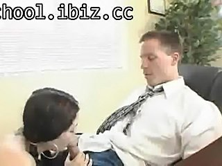 Hot schoolgirl girl gives her taut slit a taste of some faculty members ramrod