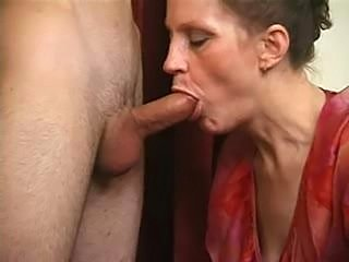 Mature gets a good fucking and recives a facial at the end of it
