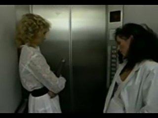 Elevator lesbians  free