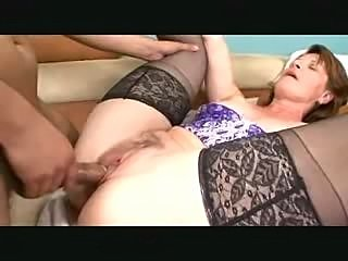 Redhead MILF sucks and fucks till facial