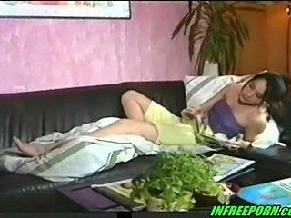 Amateur cute teen girl fuck on couch