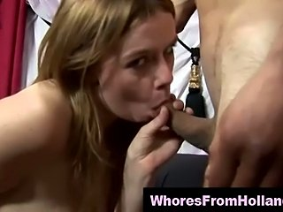 Amsterdam hooker fucked and jizzed by client