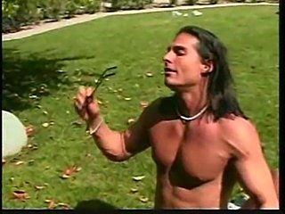 Pimp with long hair fucking outdoor