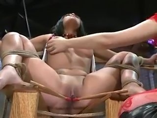 Hot brunette Giselle is getting extremely punished