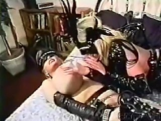 Wendy Whoppers and Lisa Lipps getting freaky in leather