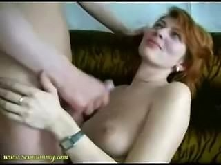 Skinny mom fucks friend