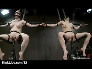 Strapped babes fucked by machines  free