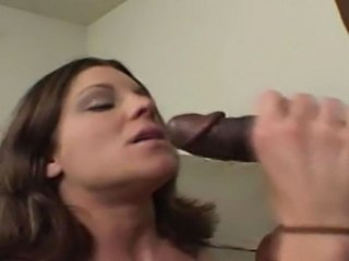 Hot interracial action with a horny milf