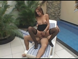 Lucky guy with Laisa Lins