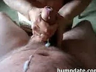 Mature babe jerks cock until he cums