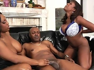 Watch ebony whores Sierra and Jada Fire fucked