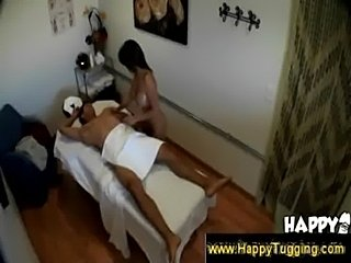 Naughty masseuse grabs a guys dick  free